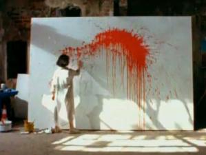 Jackson Pollock değil Sibel Alaş.